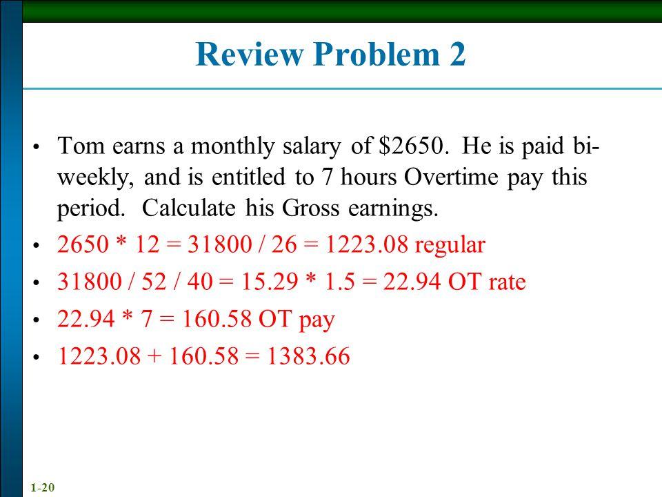 Review Problem 2