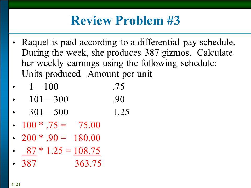 Review Problem #3