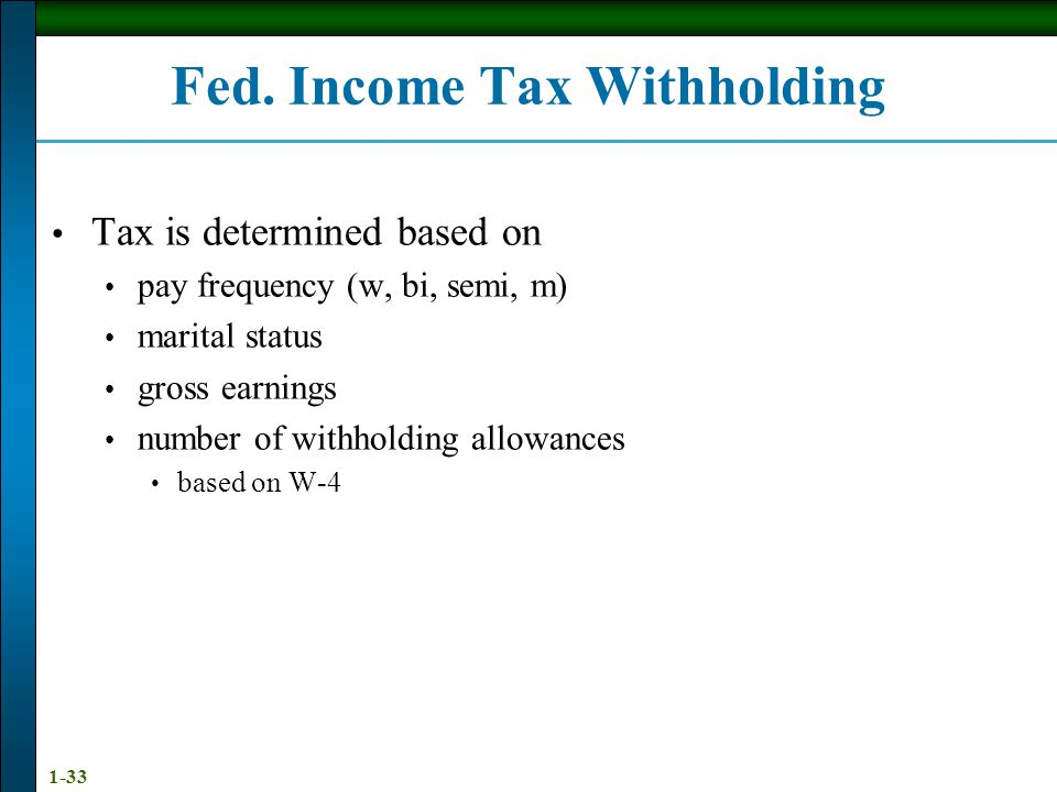Fed. Income Tax Withholding