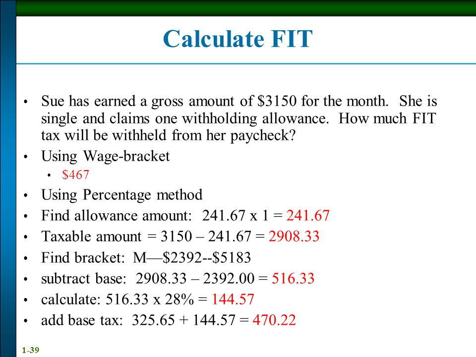 Calculate FIT