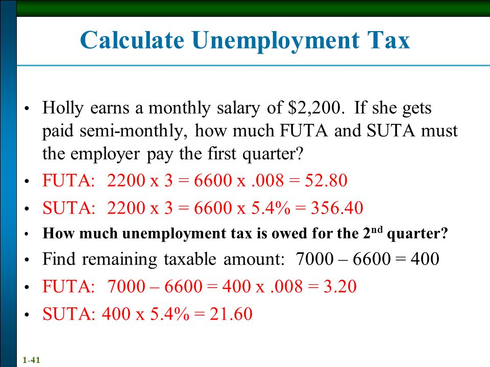 Calculate Unemployment Tax