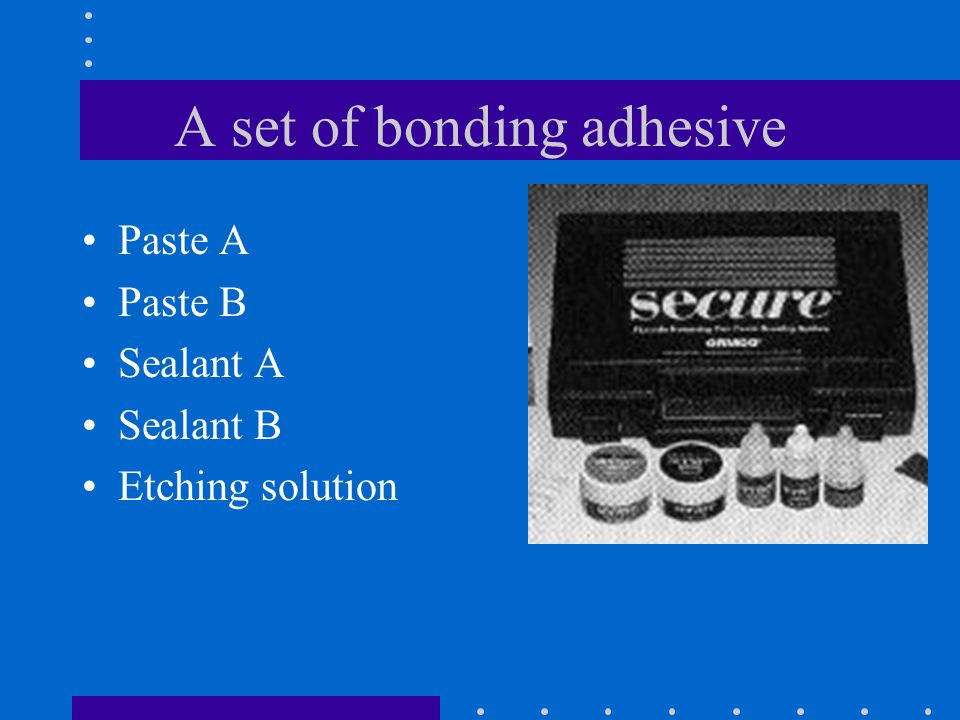 A set of bonding adhesive