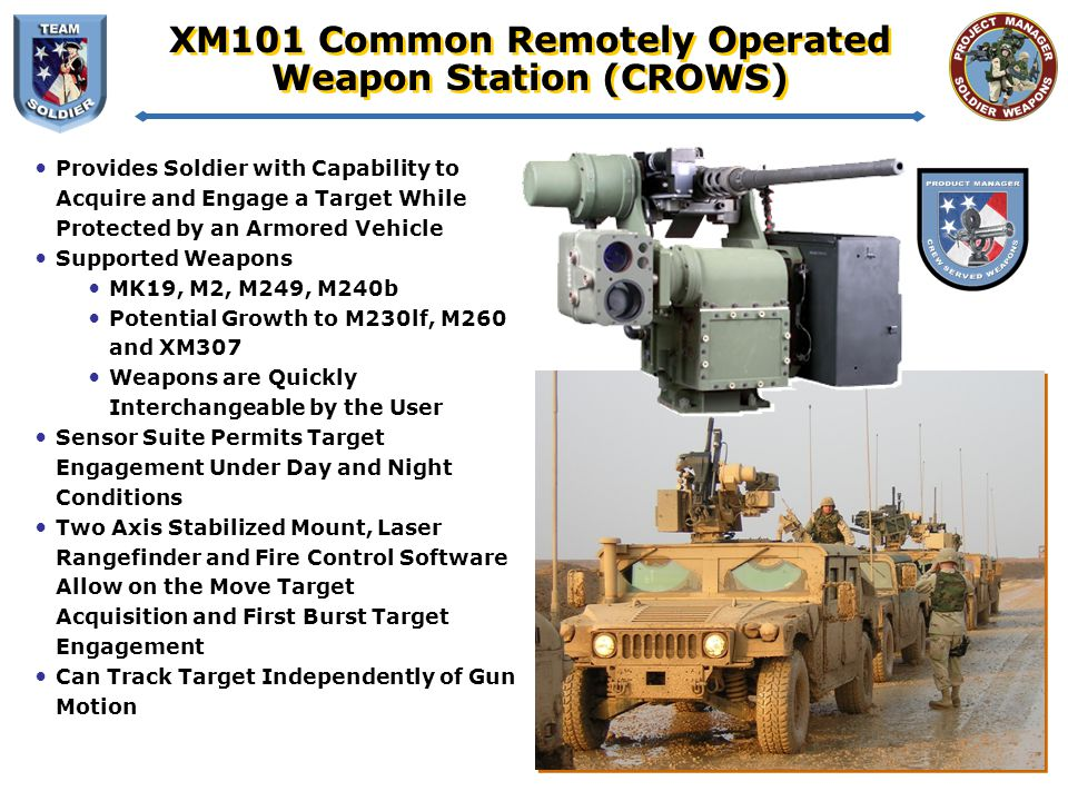 XM101 Common Remotely Operated Weapon Station (CROWS)