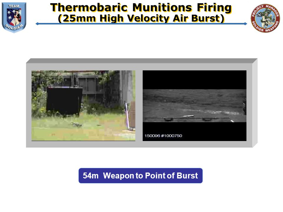 Thermobaric Munitions Firing (25mm High Velocity Air Burst)