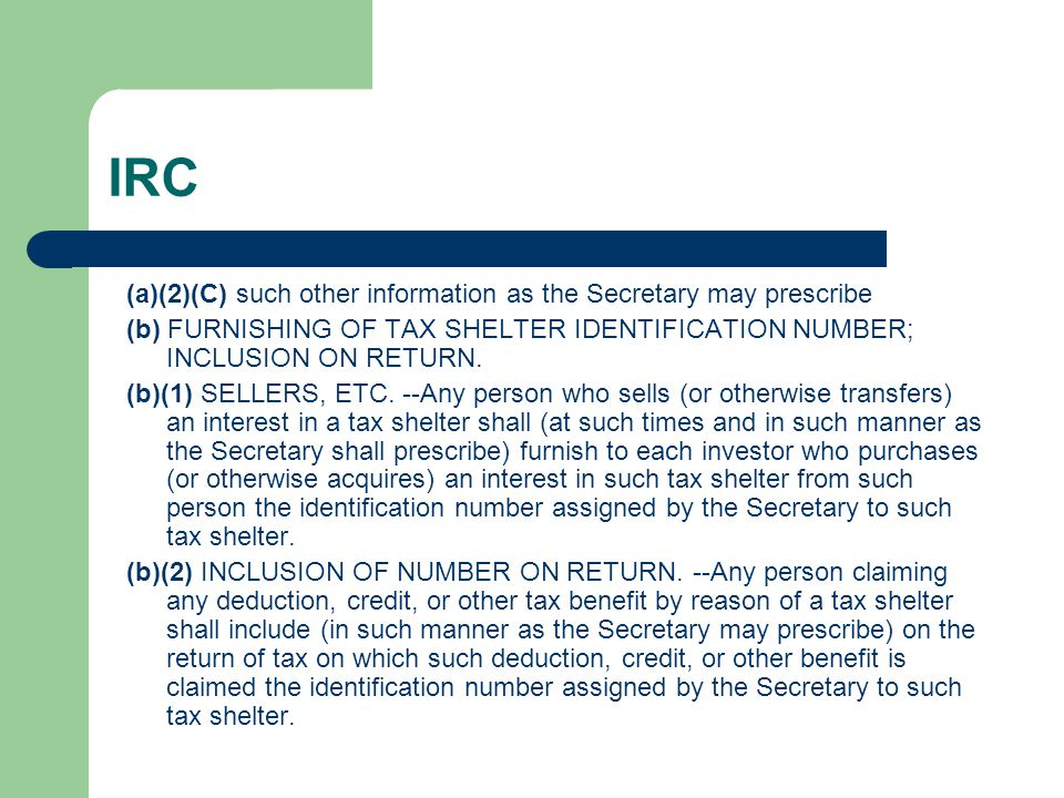 IRC (a)(2)(C) such other information as the Secretary may prescribe