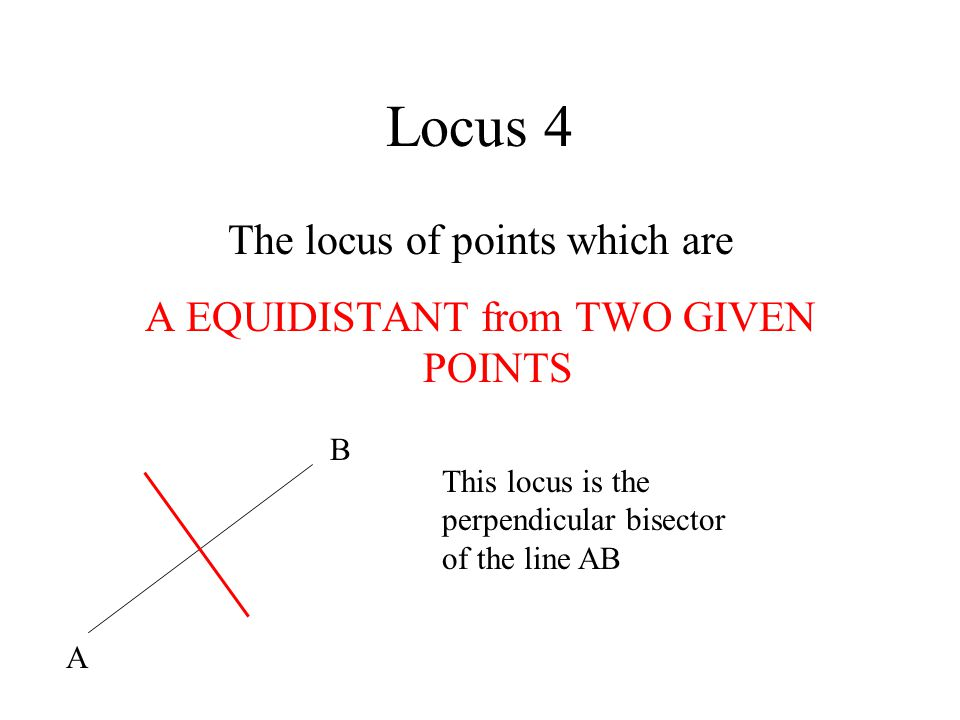 Locus 4 The locus of points which are