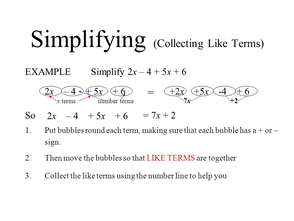 Simplifying (Collecting Like Terms)