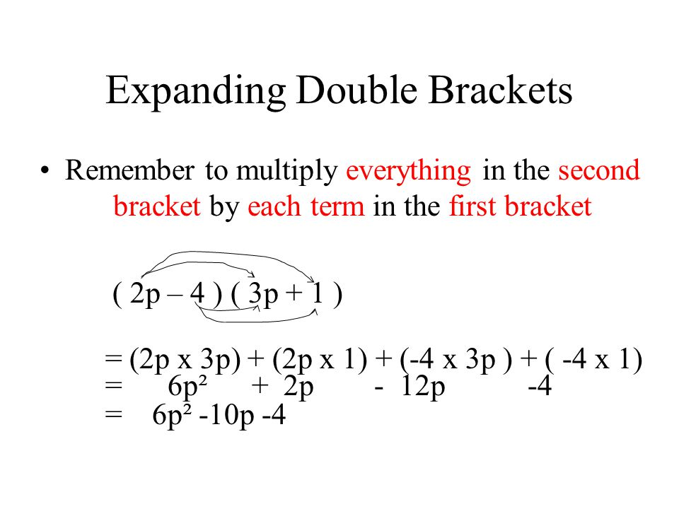 Expanding Double Brackets