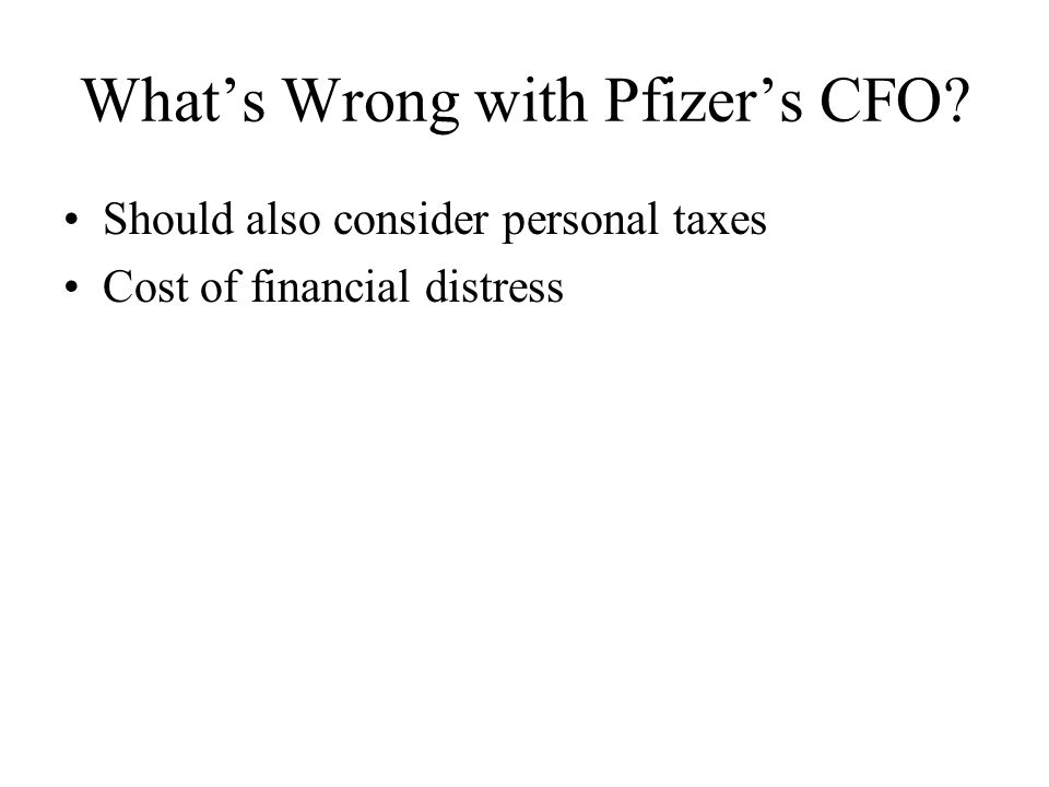 What's Wrong with Pfizer's CFO