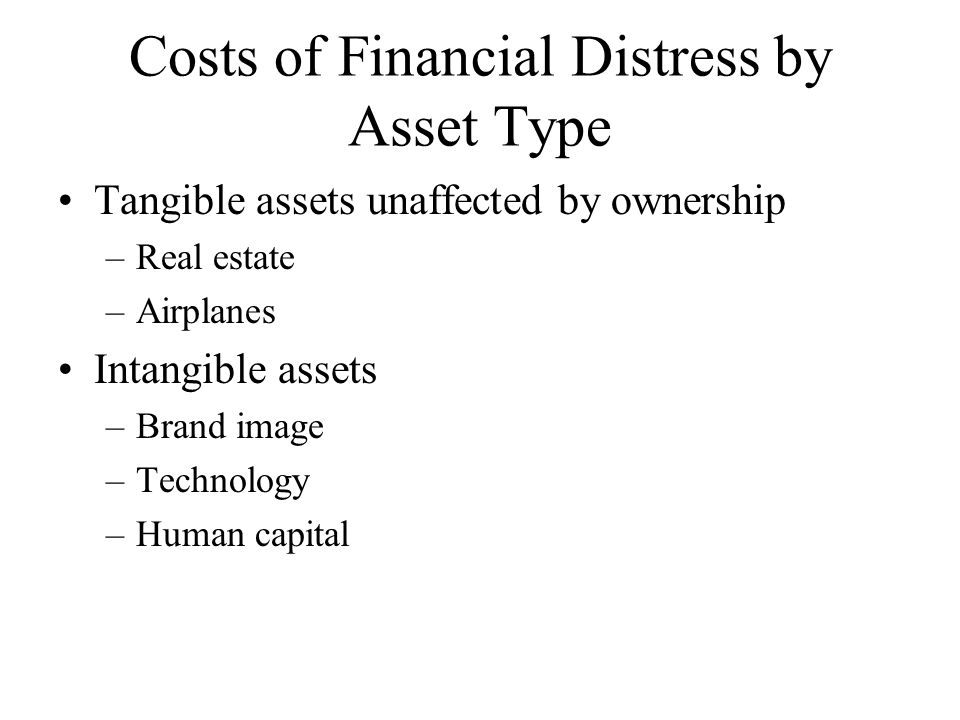 Costs of Financial Distress by Asset Type