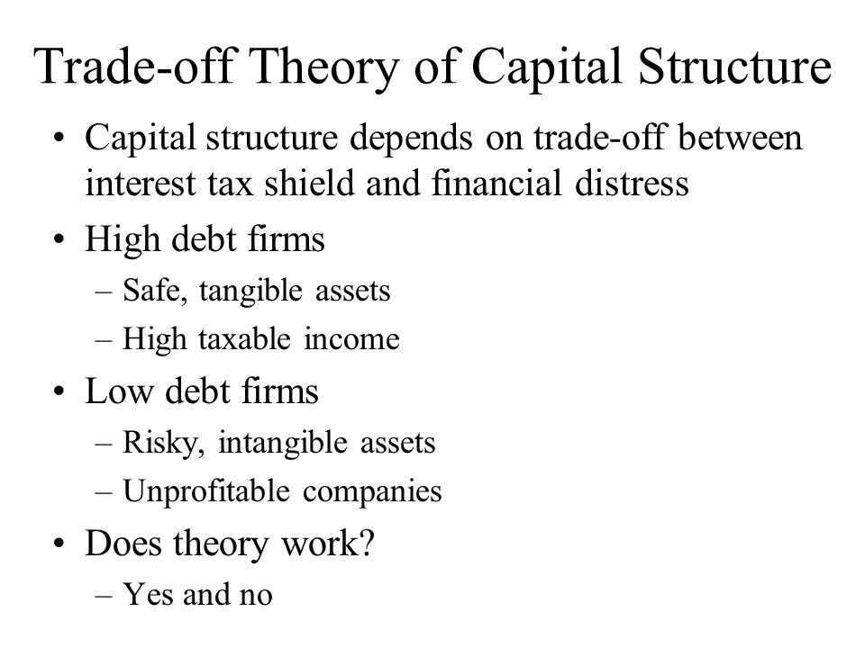Trade-off Theory of Capital Structure