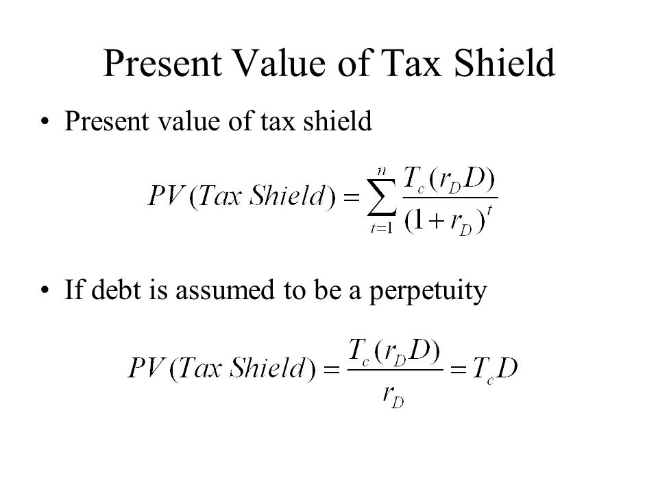 Present Value of Tax Shield