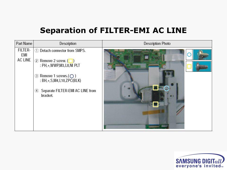 Separation of FILTER-EMI AC LINE