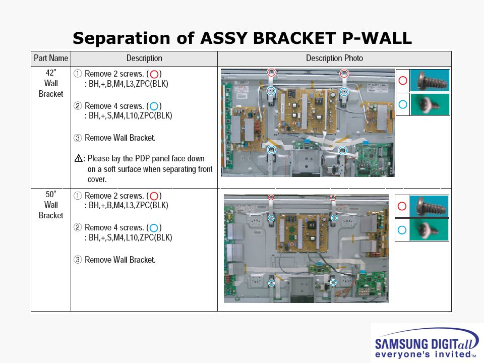 Separation of ASSY BRACKET P-WALL