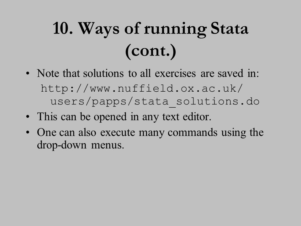 11. Introduction to Stata commands