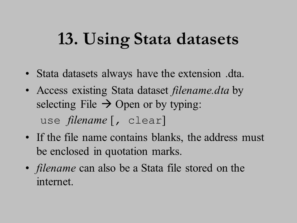 14. Using Stata datasets (cont.)