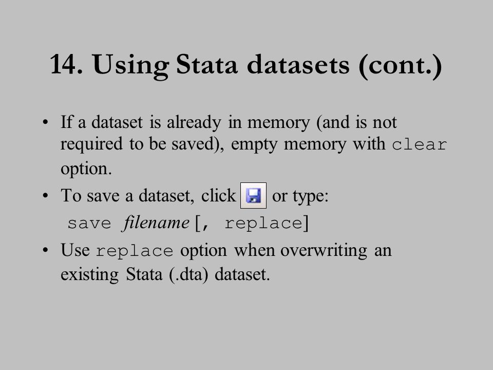 15. Creating Stata datasets