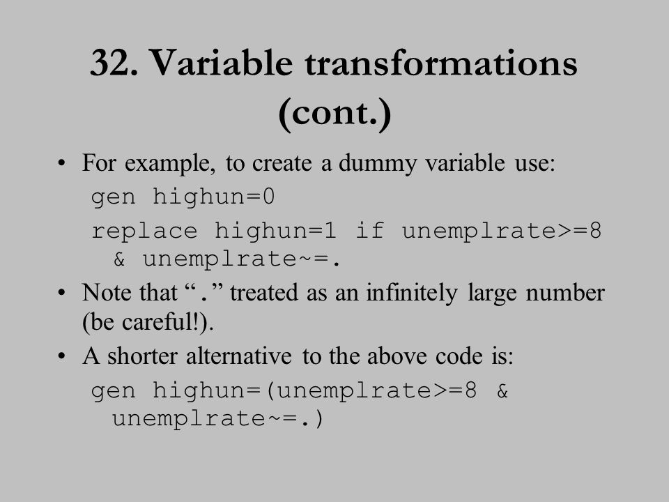 33. Variable transformations (cont.)