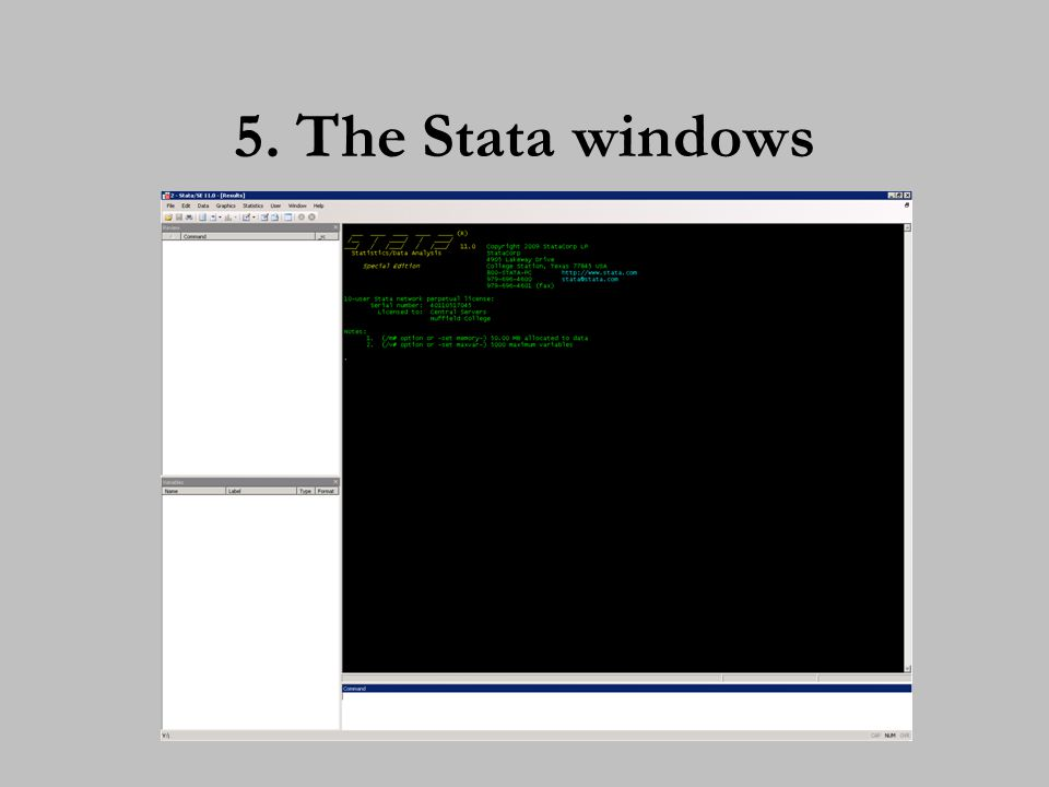 6. Navigating around Stata