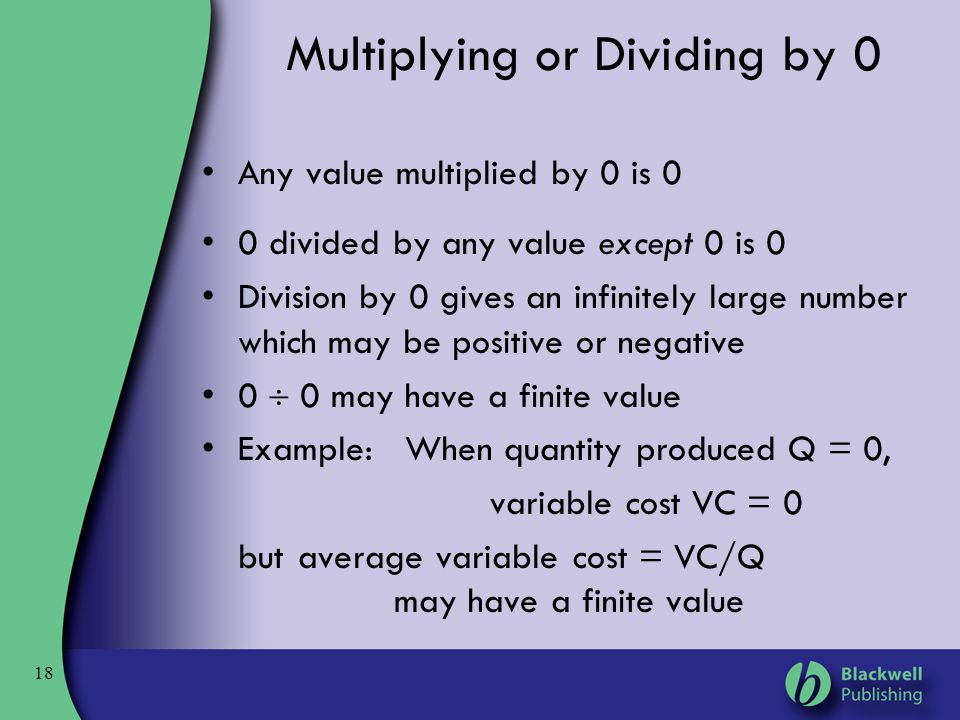 Multiplying or Dividing by 0
