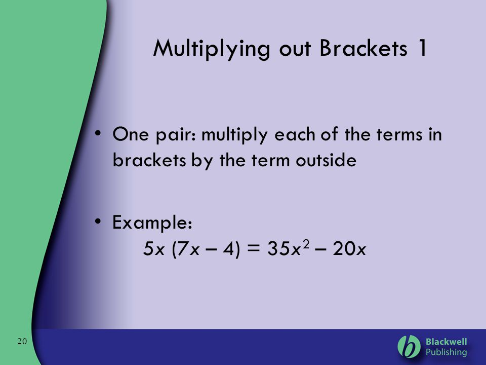 Multiplying out Brackets 1
