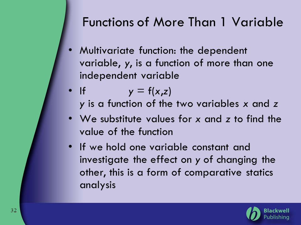Functions of More Than 1 Variable