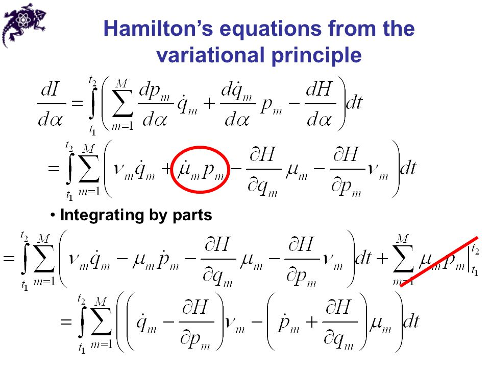 Hamilton's equations from the variational principle