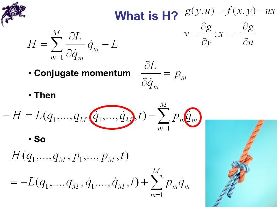 What is H Conjugate momentum Then So