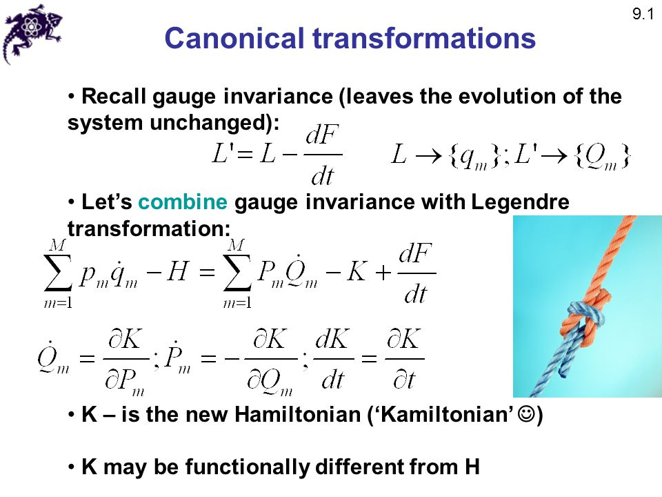 Canonical transformations