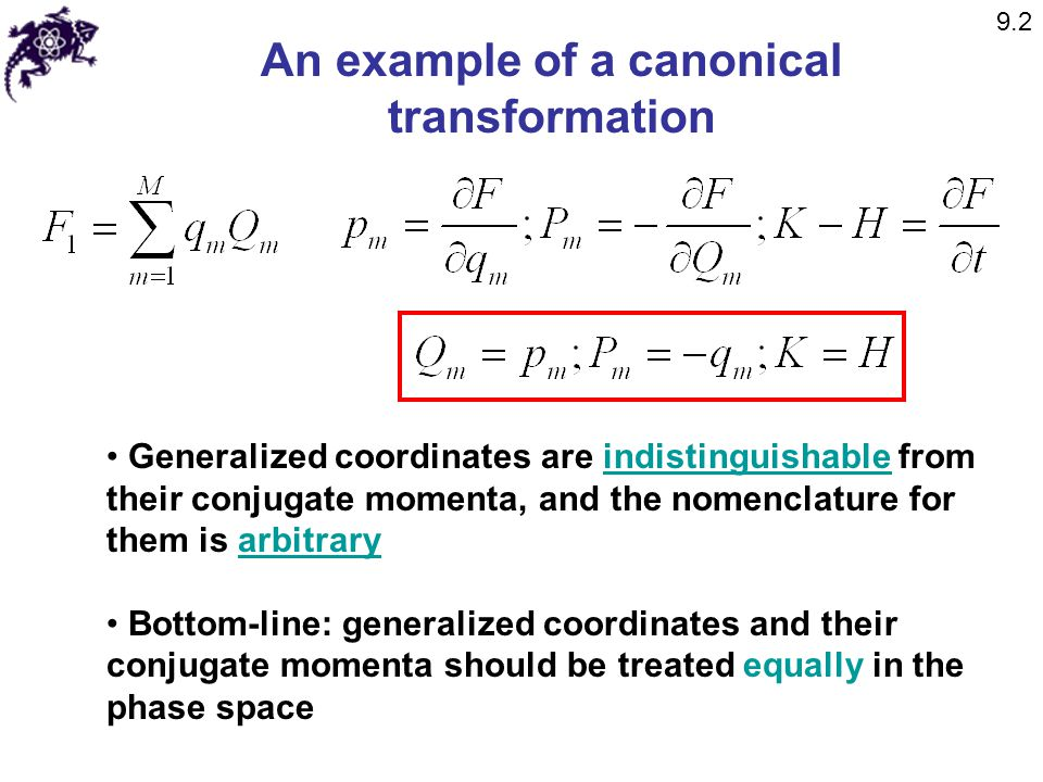An example of a canonical transformation