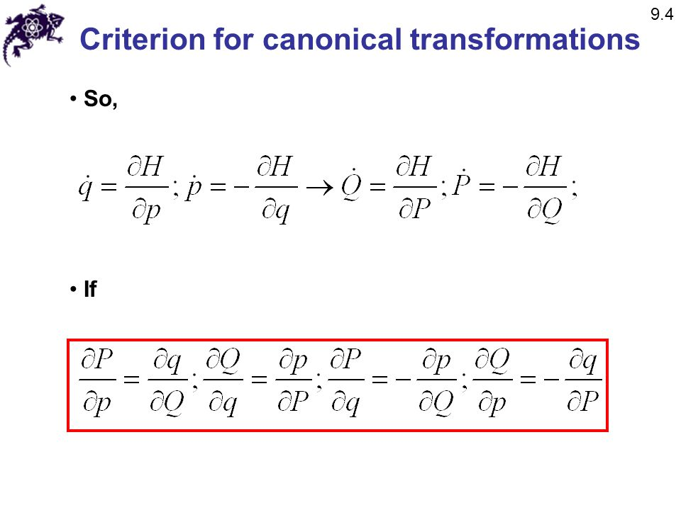 Criterion for canonical transformations