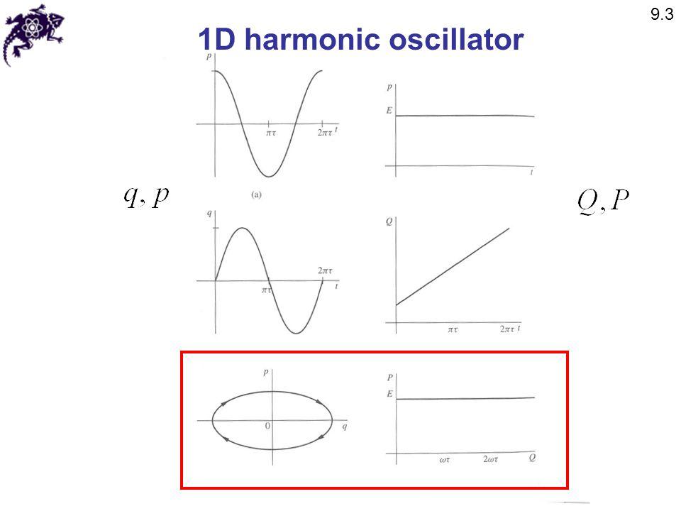 9.3 1D harmonic oscillator
