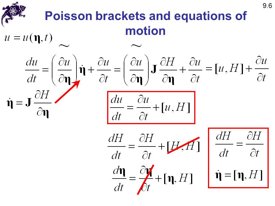 Poisson brackets and equations of motion