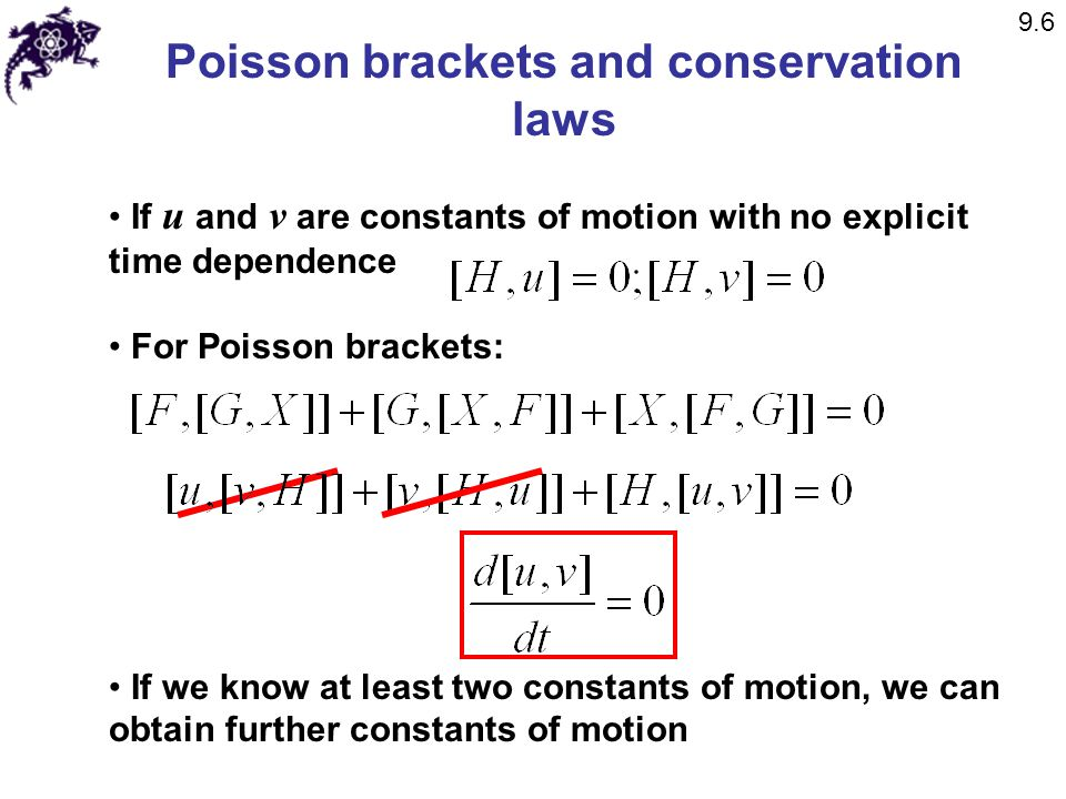 Poisson brackets and conservation laws