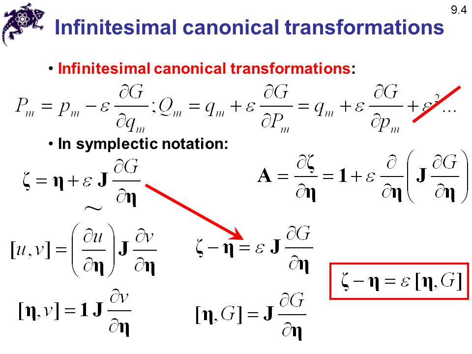 Infinitesimal canonical transformations