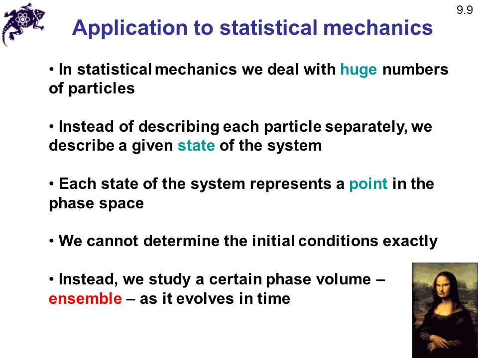 Application to statistical mechanics
