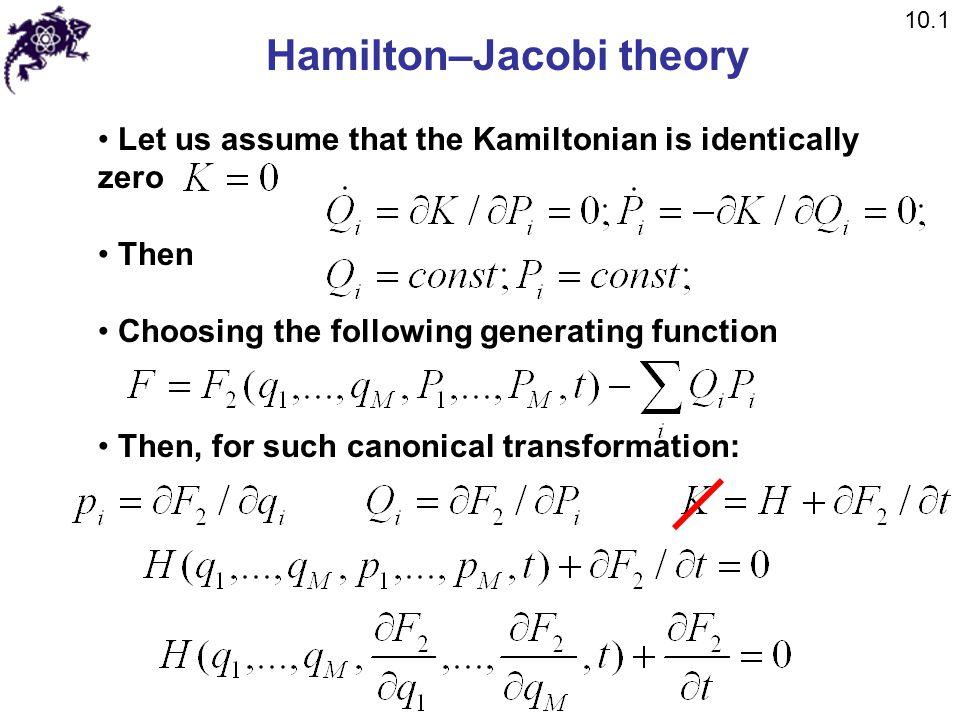 Hamilton–Jacobi theory