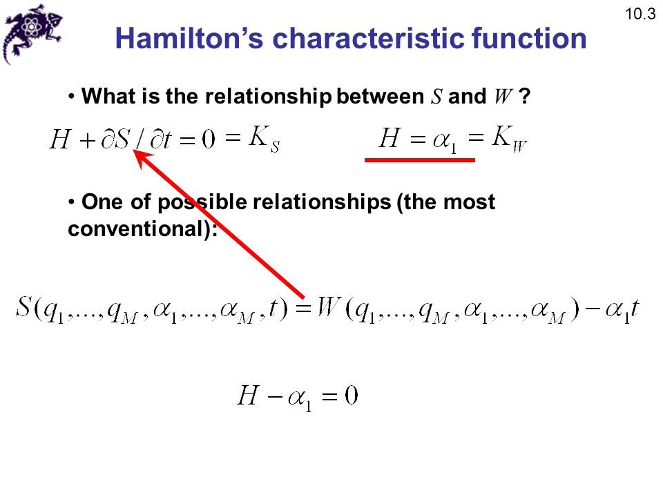 Hamilton's characteristic function