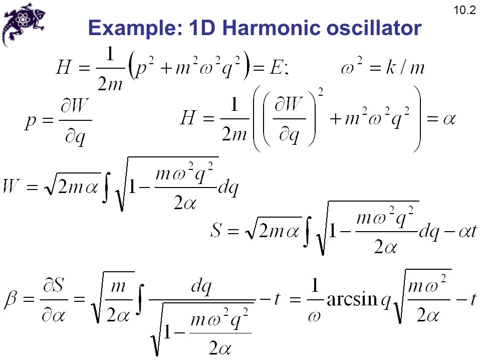 Example: 1D Harmonic oscillator