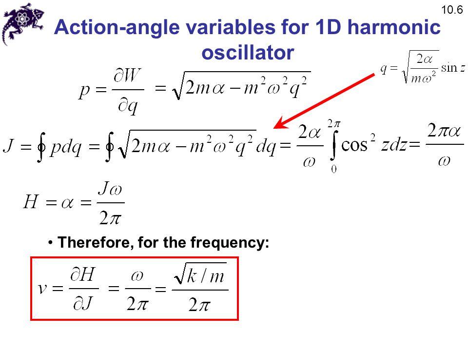 Action-angle variables for 1D harmonic oscillator