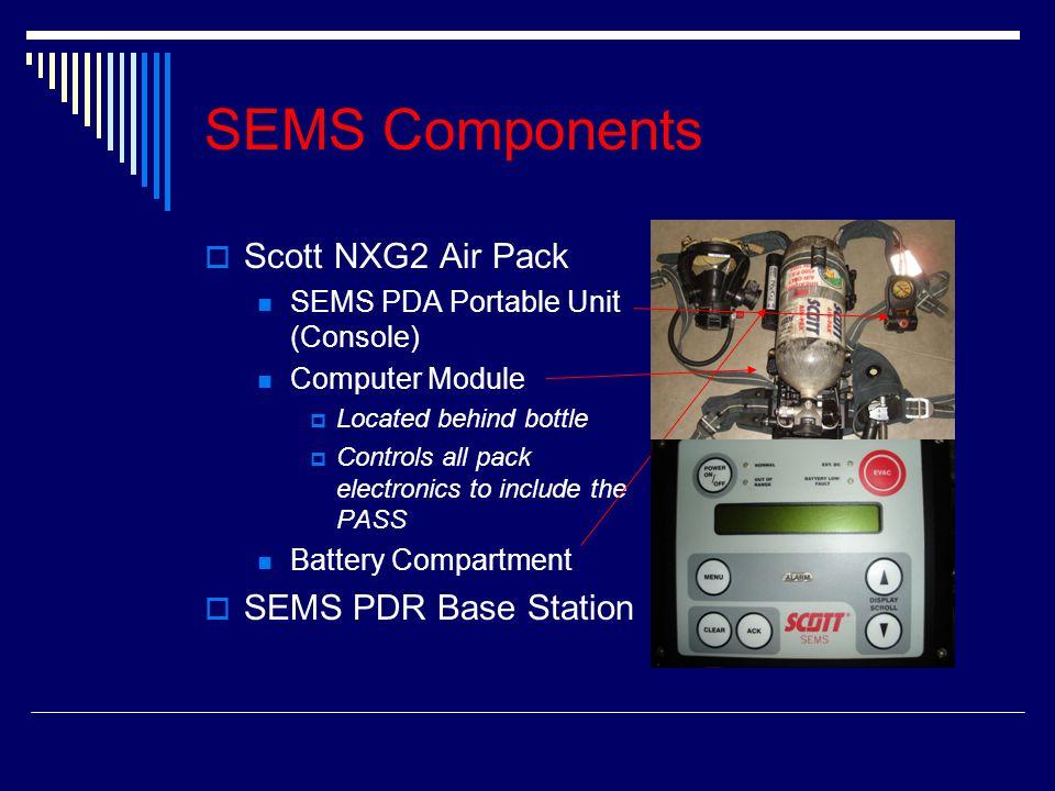 SEMS Components Scott NXG2 Air Pack SEMS PDR Base Station