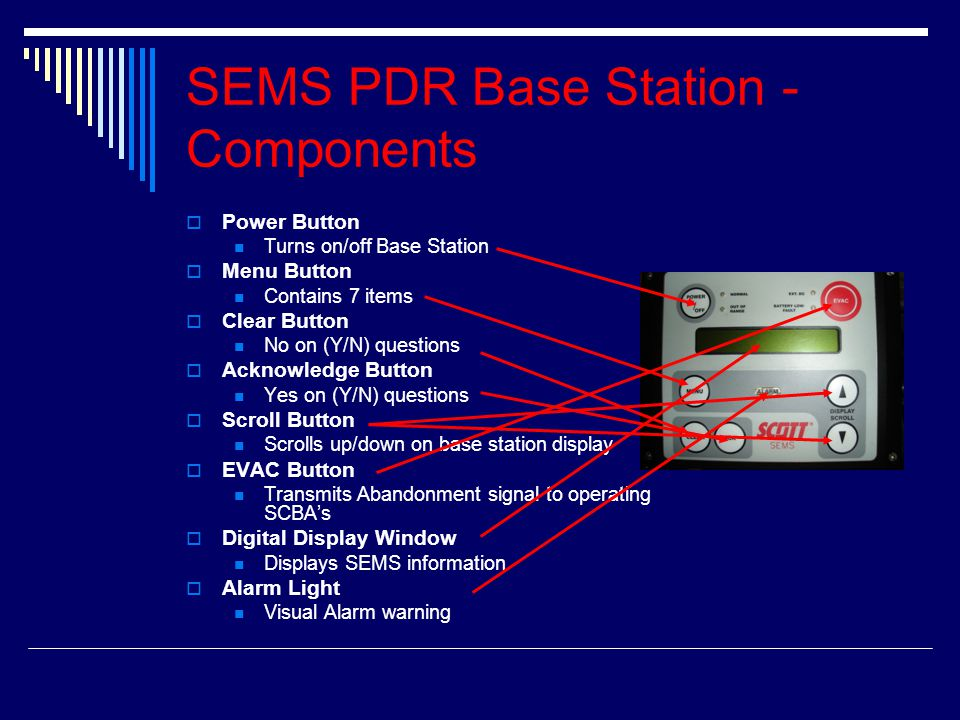 SEMS PDR Base Station - Components
