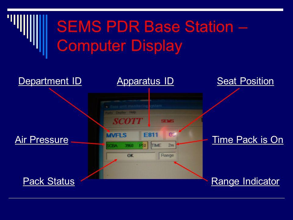 SEMS PDR Base Station – Computer Display