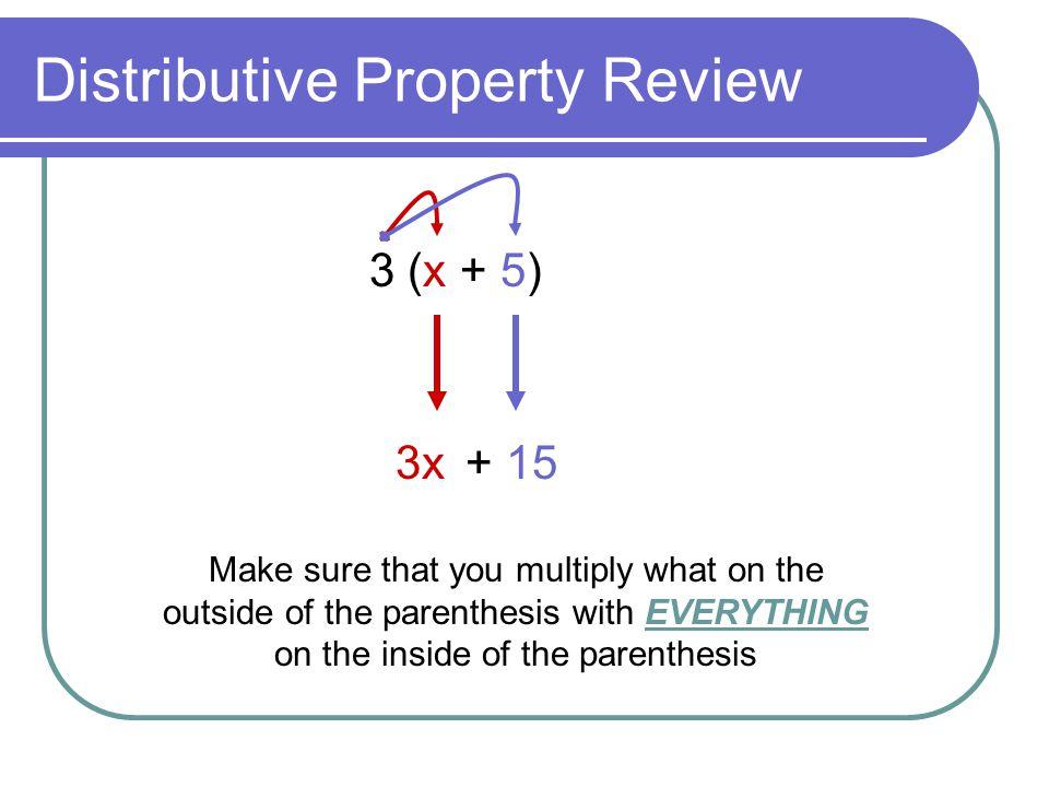 Distributive Property Review