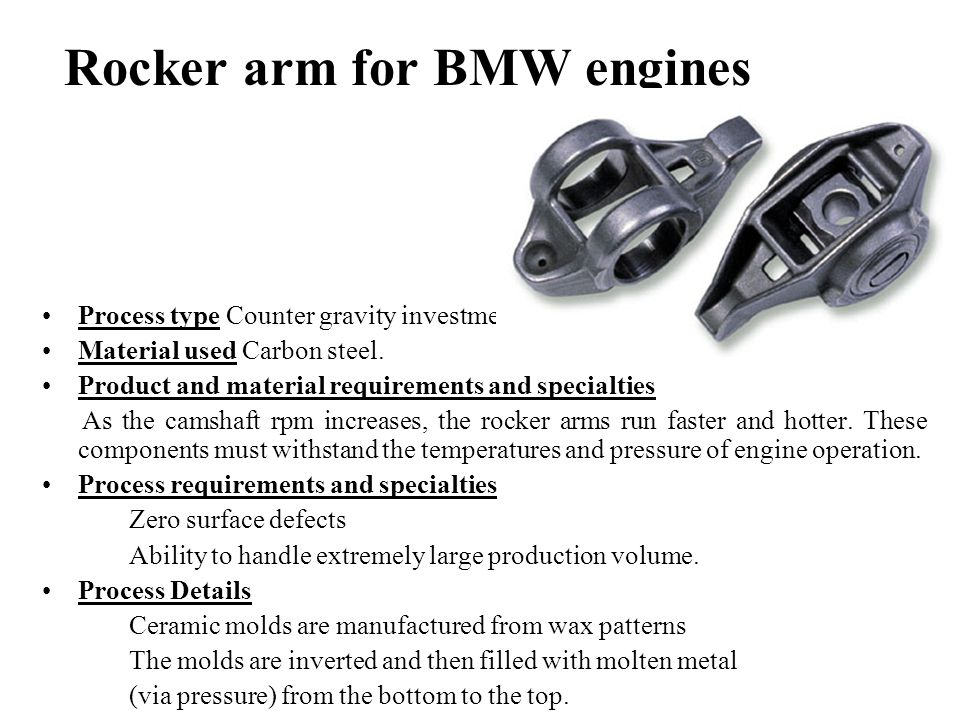 Rocker arm for BMW engines