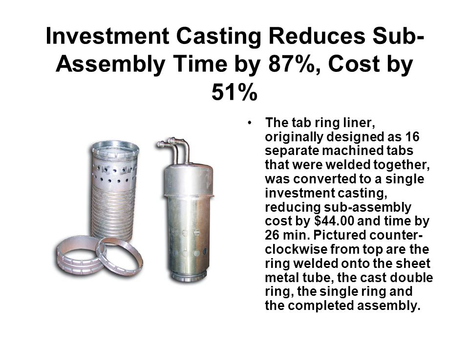 Investment Casting Reduces Sub-Assembly Time by 87%, Cost by 51%