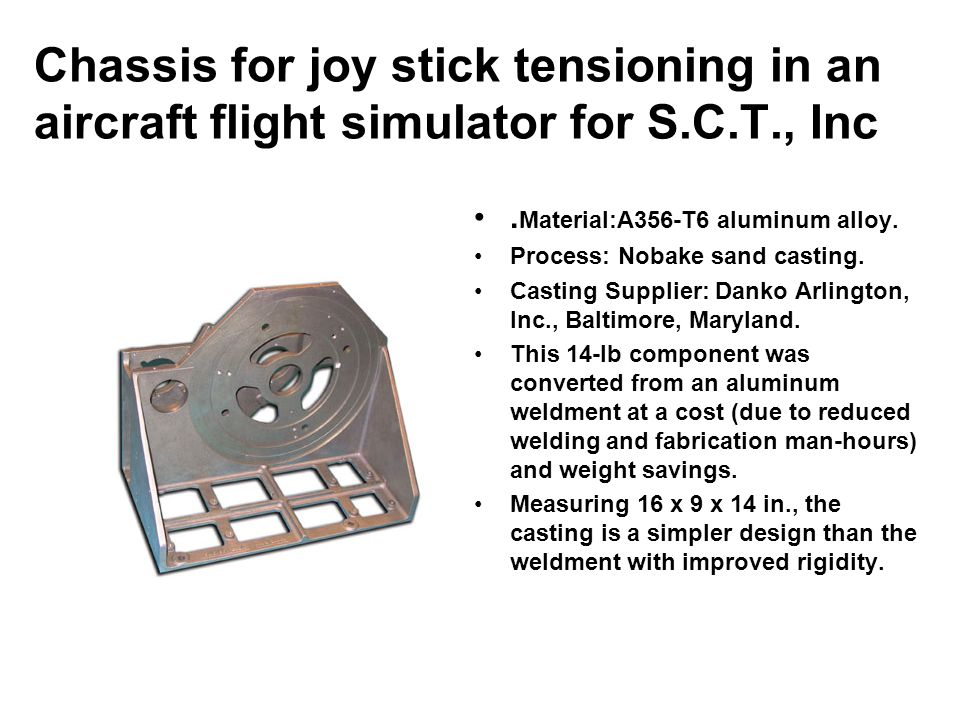 Chassis for joy stick tensioning in an aircraft flight simulator for S