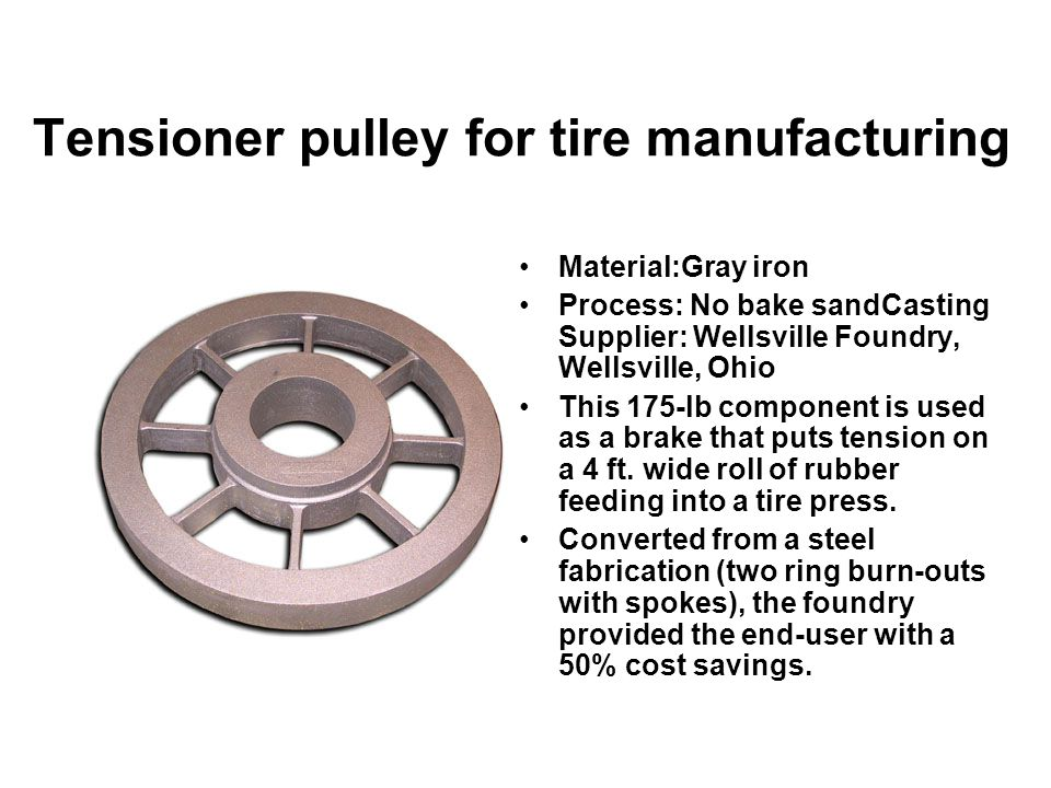 Tensioner pulley for tire manufacturing