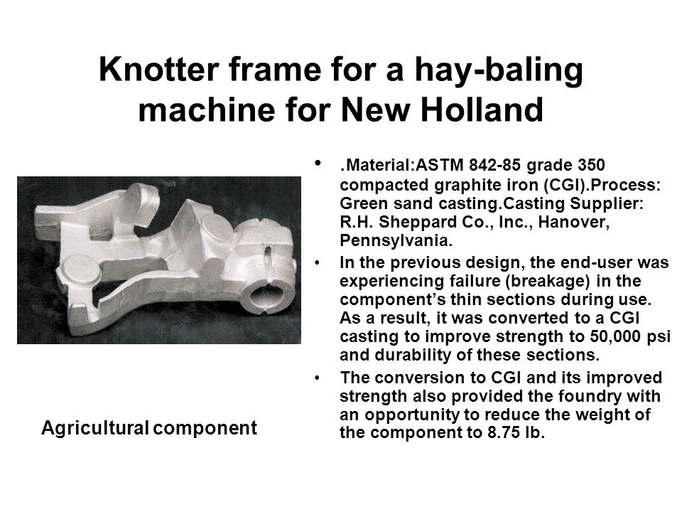 Knotter frame for a hay-baling machine for New Holland