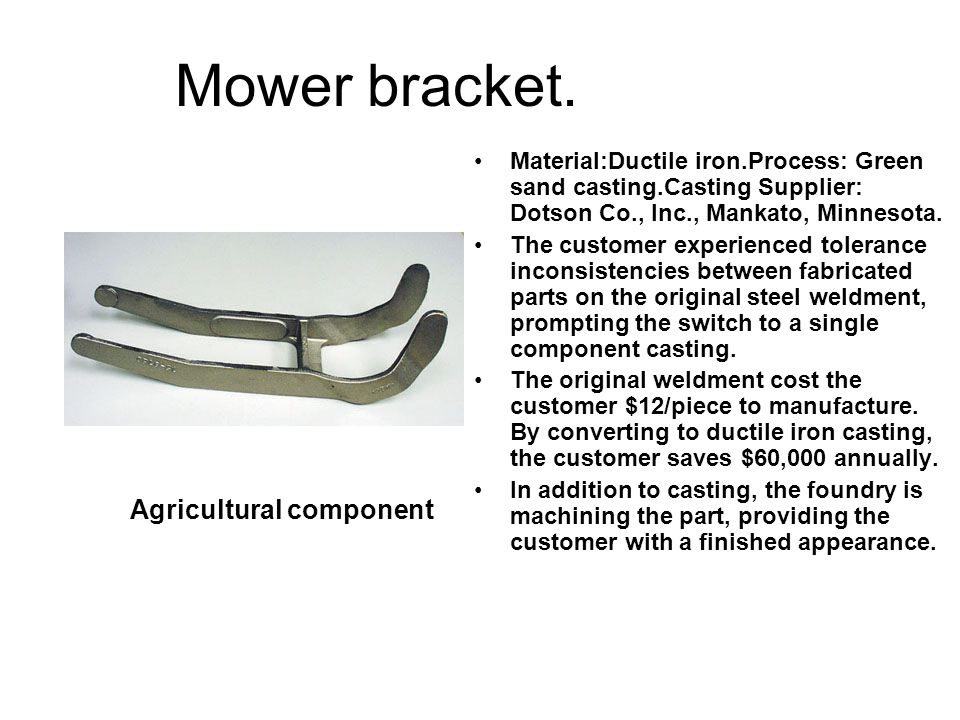 Mower bracket. Agricultural component